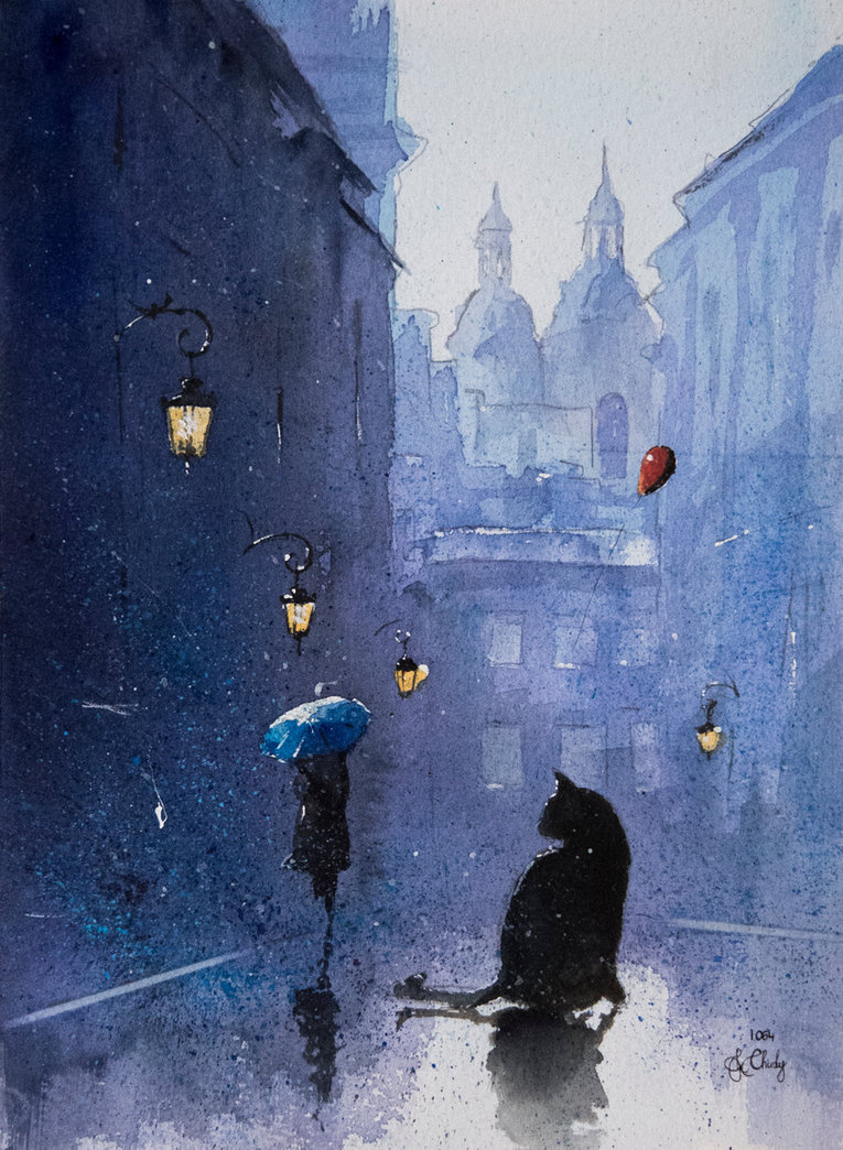 14-A-tomcat-from-Piwna-Street-Grzegorz-Chudy-sanderus-Dreams-Started-with-Watercolor-Paintings-www-designstack-co