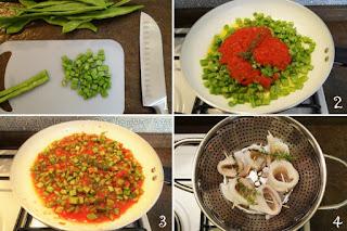 foto preparazione Ricetta filetti di platessa con taccole in umido per bambini