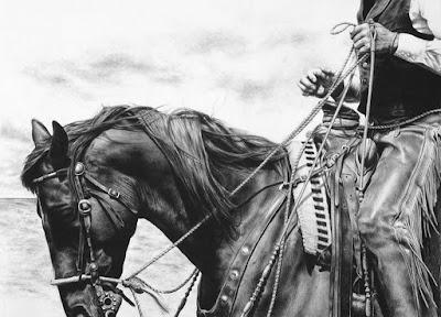 dibujos-cabezas-de-caballos-con-riendas-lapiz