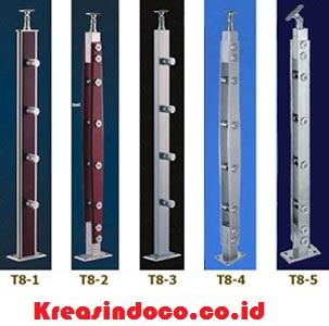 Model Railing Dan Balkon Tiang Minimalis Stainless Steel