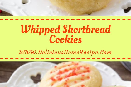 Whipped Shortbread Cookies #christmas #cookies