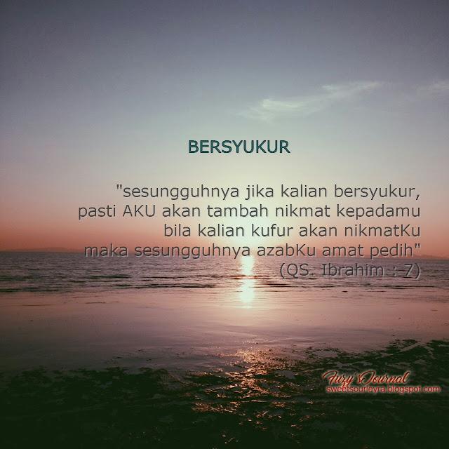 Belajarlah untuk bersyukur