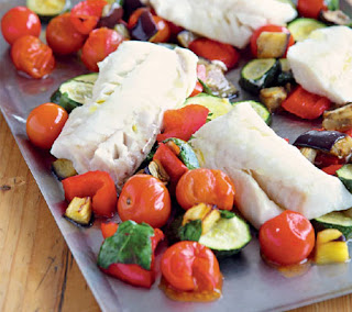 roasted cod with ratatouille recipe