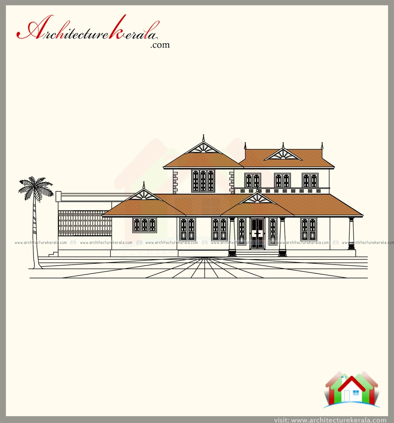 2500 square feet kerala style house plan and traditional for Elevation house plans