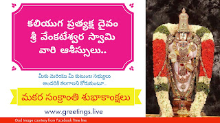Sri Lord Venkateswara swamy Sankranti Festival Wishes