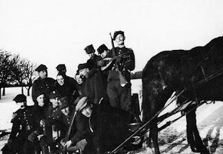 Przyjazd kurierek z Warszawy do Oddziału majora Hubala - luty 1940