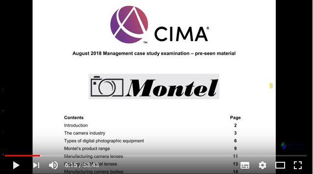 MCS August 2018 Pre-seen video analysis Montel  - CIMA Management Case Study