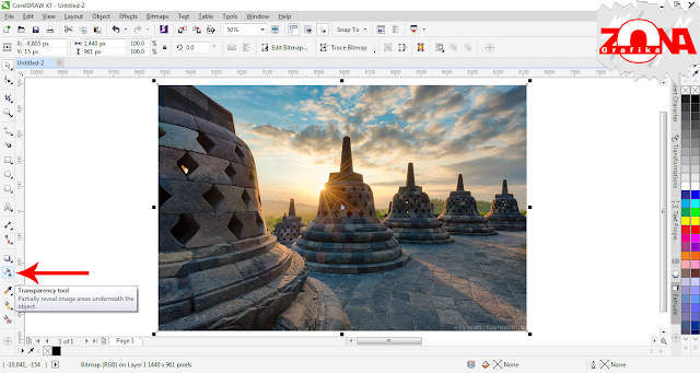 Cara Membuat Transparency Pada Gambar JPG Dengan Corel Draw X7