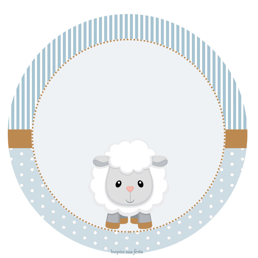 baby lamb in light blue  free printable wrappers and