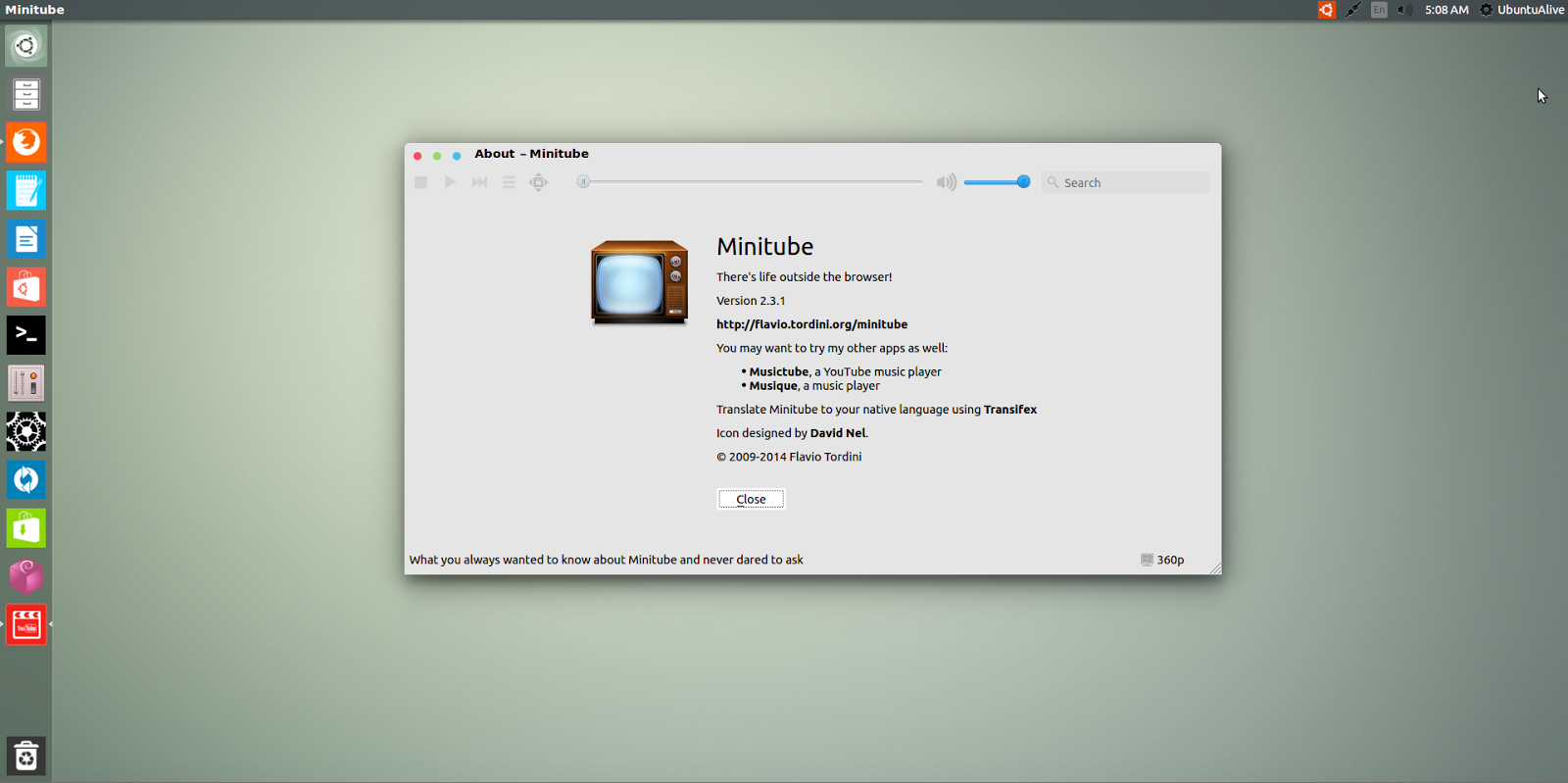 Ubuntu Alive, Explore, And Learn : How To Install MiniTube