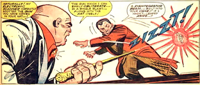 Amazing Spider-Man #50, john romita, the Kingpin fires his cane weapon at Fred Foswell