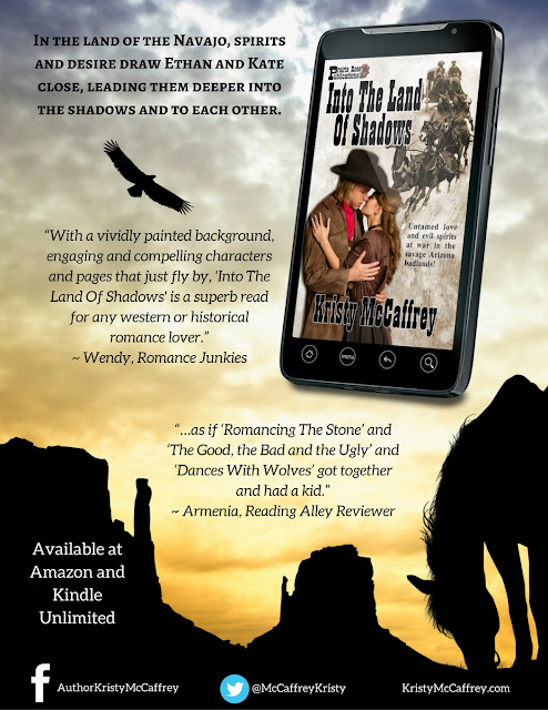 Into The Land Of Shadows by Kristy McCaffrey - June #blogabookscene #westernromance #prairierosepubs @prairierosepubs