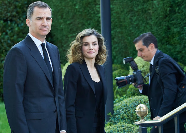 King Felipe of Spain and Queen Letizia of Spain visited USA Embassy to sign the book of condolences for the victims of the attack of Orlando