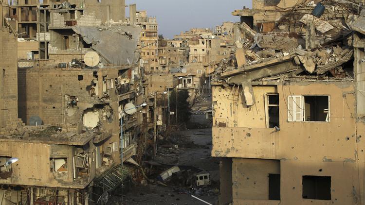 Damasco: Centenares de muertos tras taque de coalición contra arsenal químico del EI