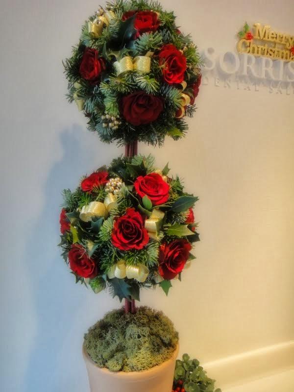 Christmas Topiary Balls.Tamakimode Christmas Topiary Balls クリスマストピアリー