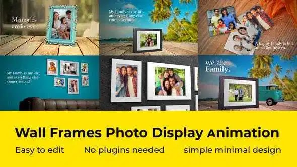 Videohive Wall Frames Photo Display 27722952