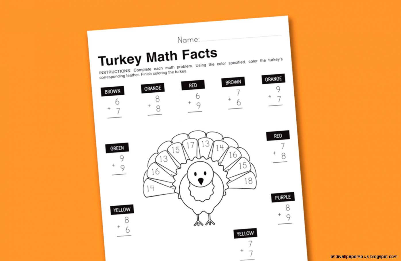 Thanksgiving Day Activities For Third Grade