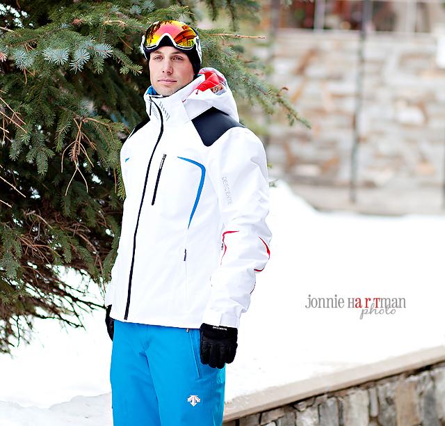 Jonnie Hartman Art Descente Ski Shoot I Love Snow