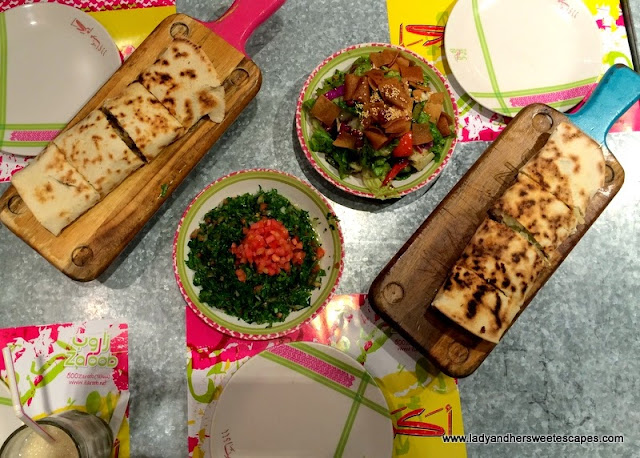 a Levantine feast at Zaroob