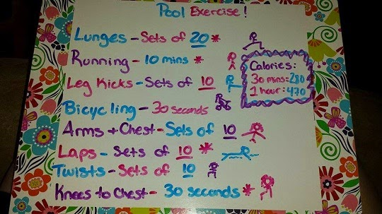 Trying to lose weight this summer? Try this pool exercise routine for weight loss and muscle toning.