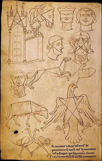 Folha do Caderno de Anotações de Villard de Honnecourt