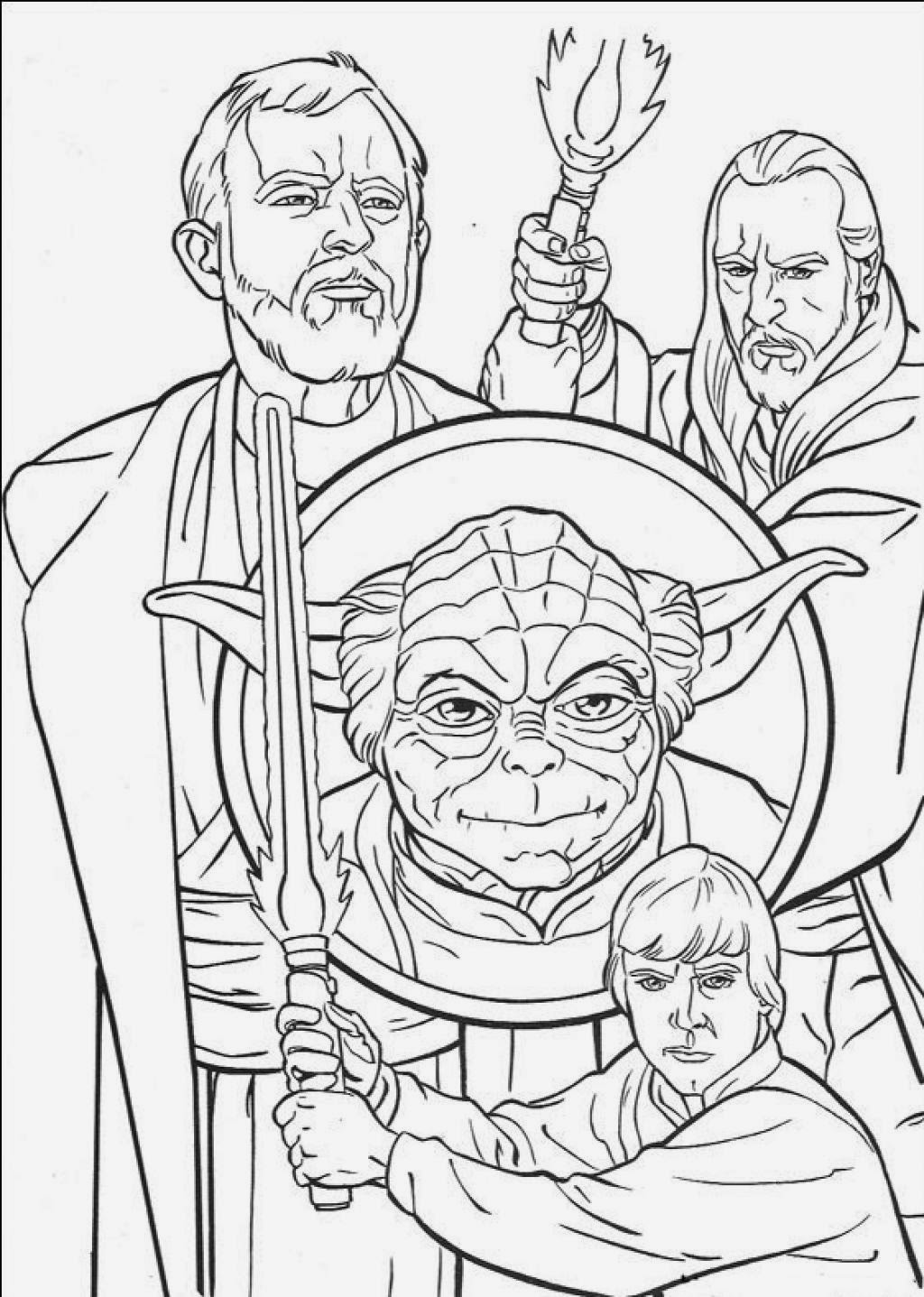 Printable coloring pages for Star wars coloring pages free
