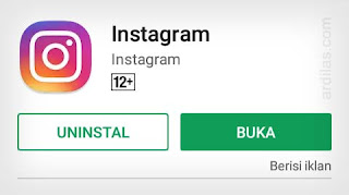 Berhasil download - Cara Menginstall Aplikasi Software Instagram App For Android
