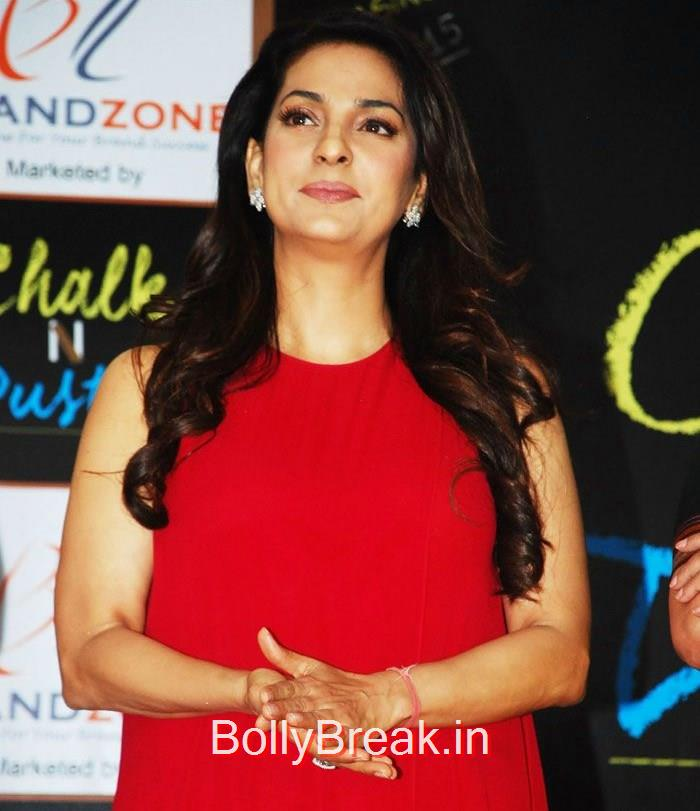 Juhi Chawla, Hot HD Images of Juhi Chawla Upsasana Singh at 'Chalk N Duster' Mahurat