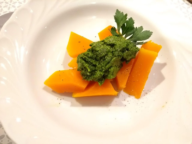 Butternut au pesto de graines de courge