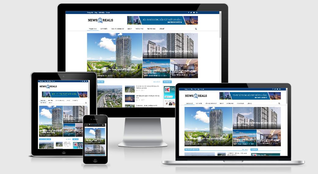 Mẫu website tin tức sử dụng wordpress chuẩn seo, load nhanh
