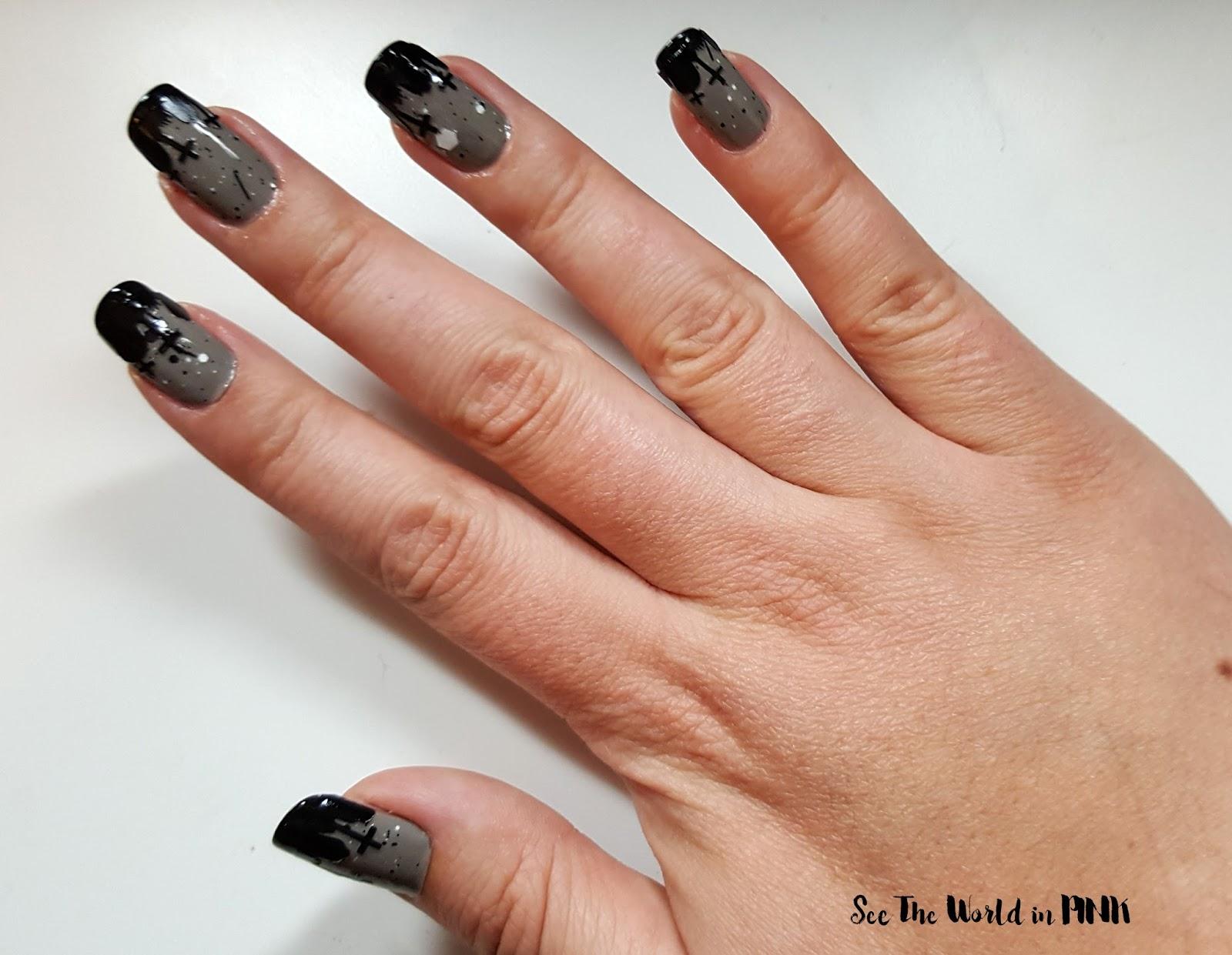 Manicure Monday - Graveyard Nails!