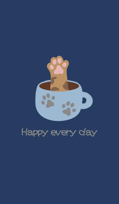 Cat charm feet coffee cup