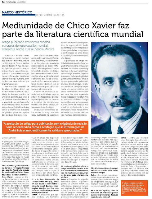 Chico Xavier na literatura científica mundial