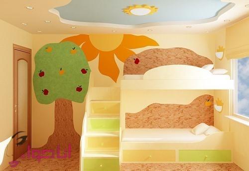 دهان غرف أطفال 2020 باللون الكافيه