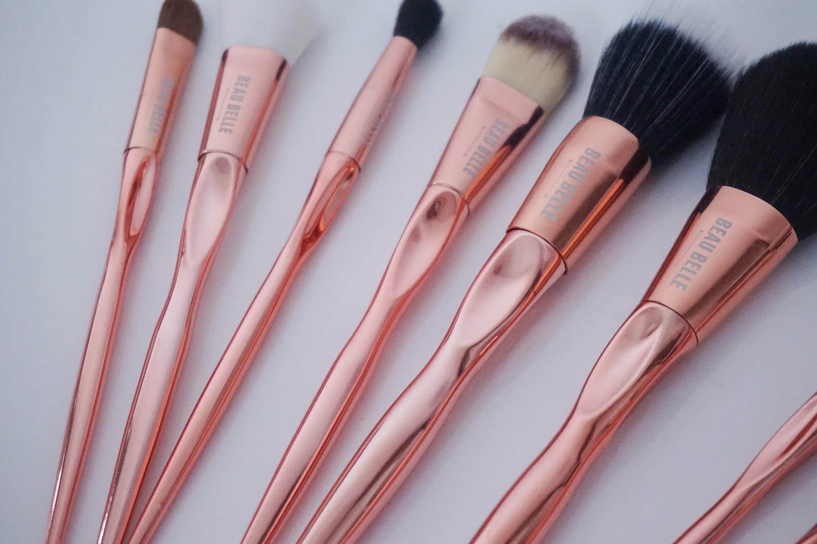 Rose Gold Brushes, close up