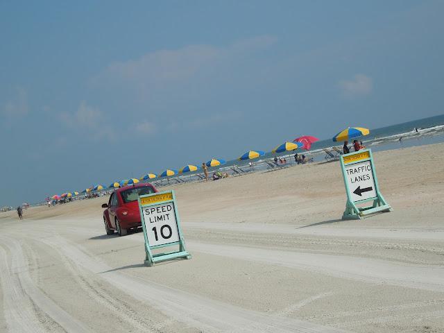 driving on Daytona Beach