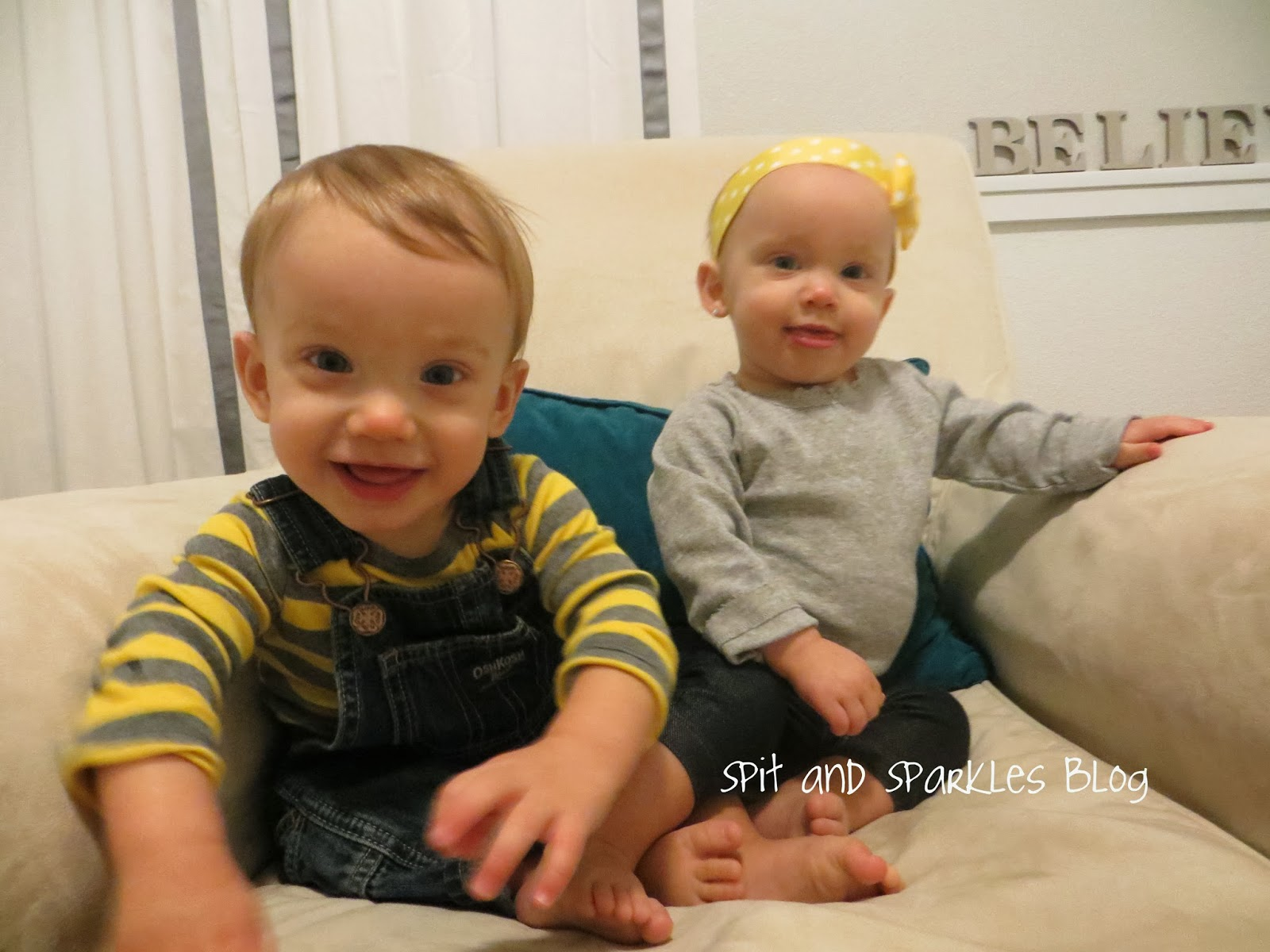 11 month twins Corbin and Lynley