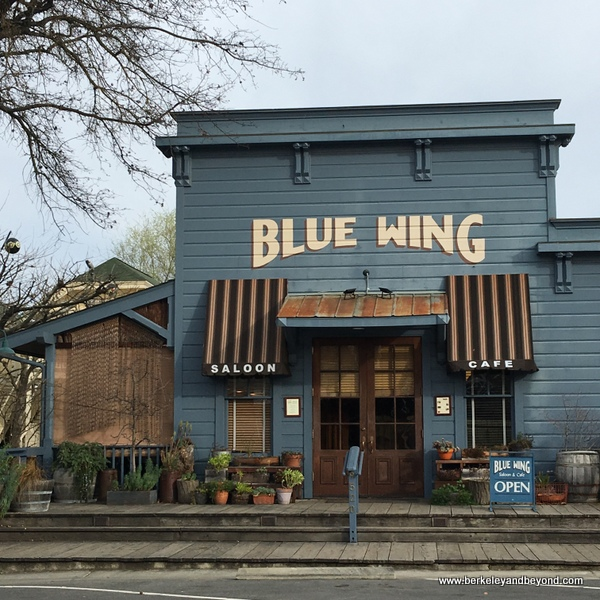 exterior of Blue Wing Saloon Restaurant in Upper Lake, California