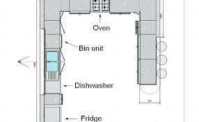 U-Shaped Kitchen Floor Plans