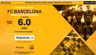 betfair supercuota 6 Barcelona gana Juventus champions 19 abril
