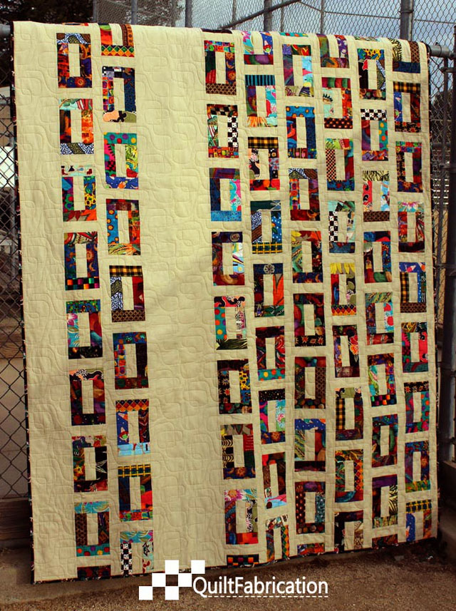 Full reveal of Slots quilt by QuiltFabrication