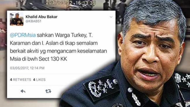 Malaysia police arrest Turks over 'security threat'