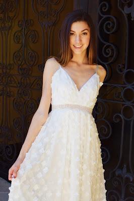 cute white prom dress