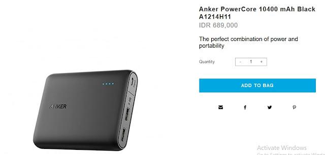 Power Bank Terbaik &Terkuat - Anker 10400 mAh