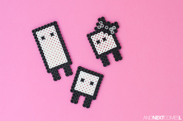 Cute perler bead crafts for kids based on video game characters from And Next Comes L