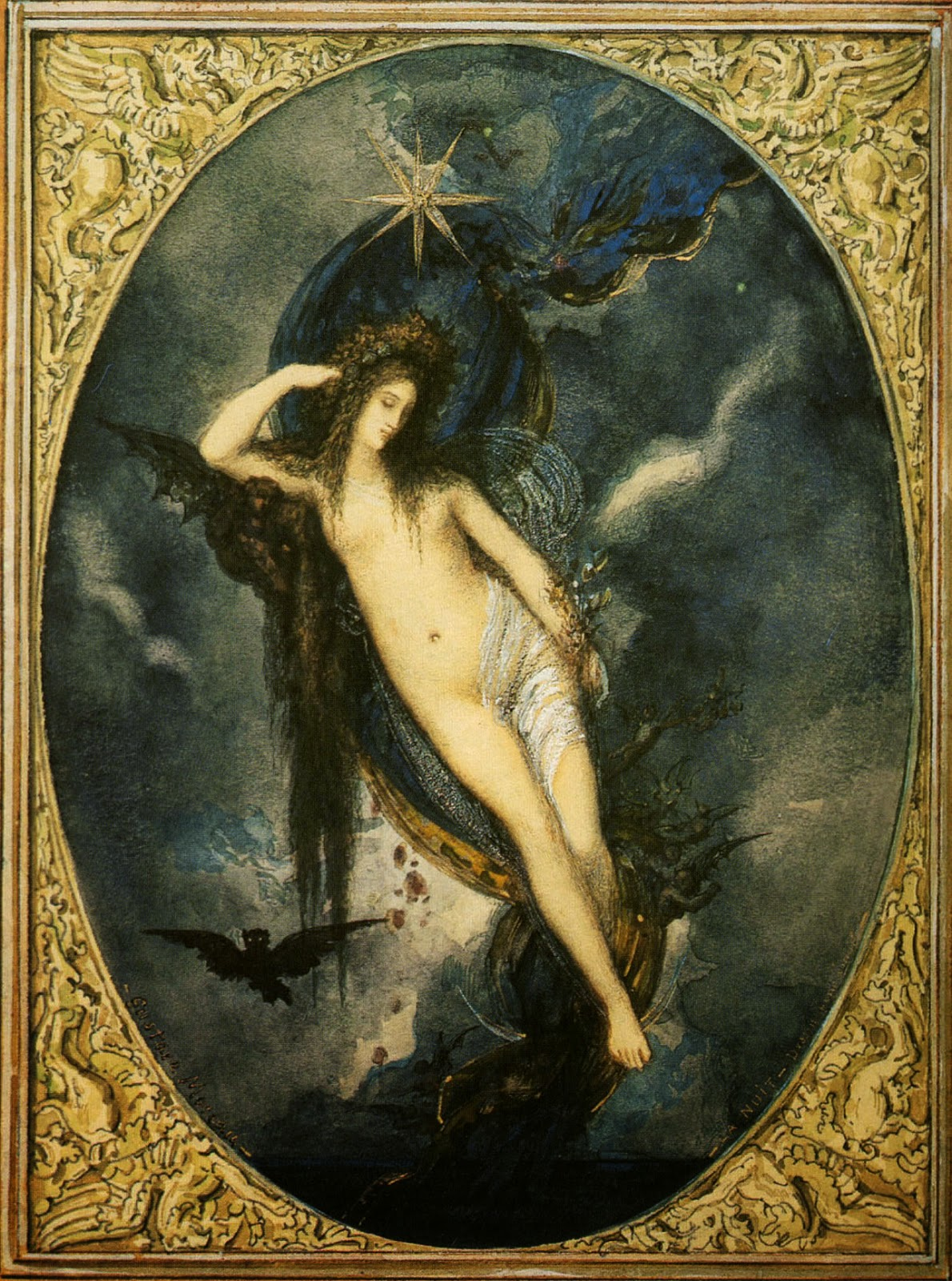 Nyx, Night Goddess Gustave Moreau, 1880 Image courtesy Wikimedia Commons