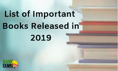 List of Important Books Released in 2019 | BankExamsToday