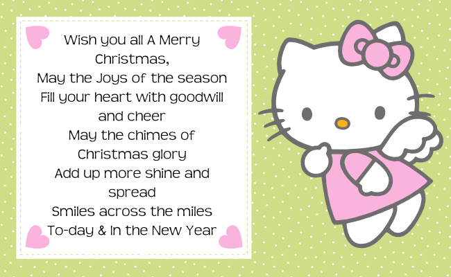 Free Christmas Printables With Favorite Movie Quotes: Hello Kitty Christmas Quotes Tag Label Printable