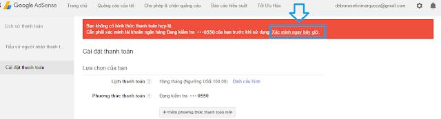 Cách thêm thẻ Payoner vào thanh toán Google Adsense