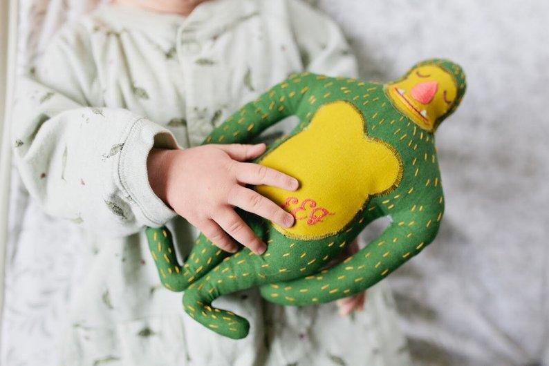 Happy Gwensday Green Sasquatch Plush Handmade Doll
